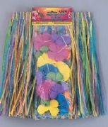 Childs Hawaiian Hula Skirt & Lei Set